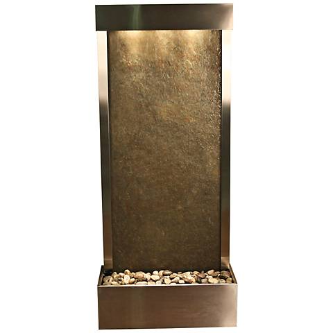 """Harmony River Steel Indoor Green Featherstone 70""""H Fountain"""