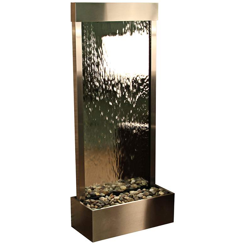 "Harmony River 70"" High Stainless Steel Modern Fountain"