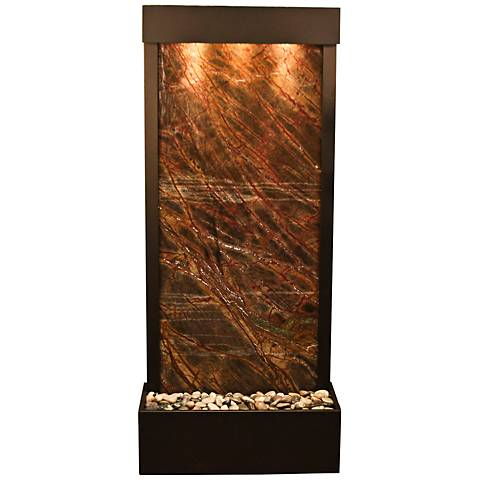 Harmony River Antique Bronze Indoor Brown Marble Fountain
