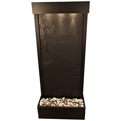 "Harmony River Bronze Indoor Black Featherstone 70""H Fountain"