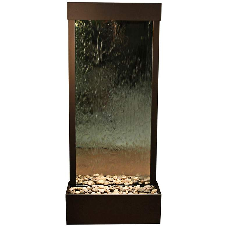 "Harmony River 70"" Bronze Modern Floor Fountain with"