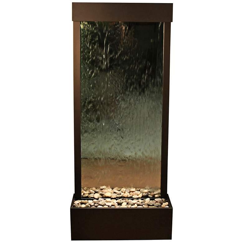 "Harmony River 70"" Bronze Modern Floor Fountain with Light"
