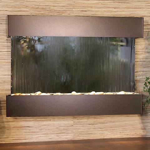 "Reflection Creek Mirror Bronze 27"" High Wall Fountain"