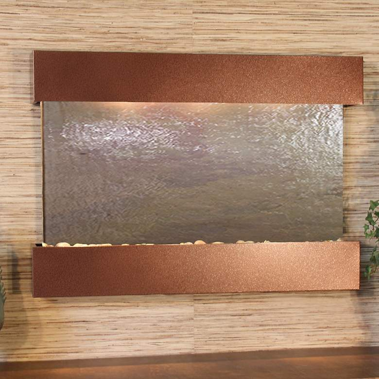 """Reflection Creek Featherstone Brown 27"""" High Wall Fountain"""