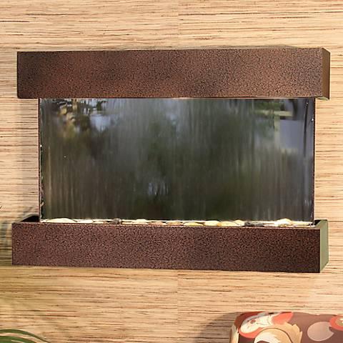 "Reflection Creek Mirror Copper Vein 27"" High Wall Fountain"
