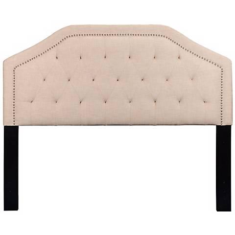 Cavanaugh Heirloom Natural Upholstered Queen Headboard