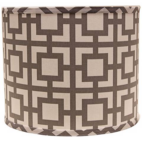 Gray Modern Square 16x16x13 Drum Shade (Spider)