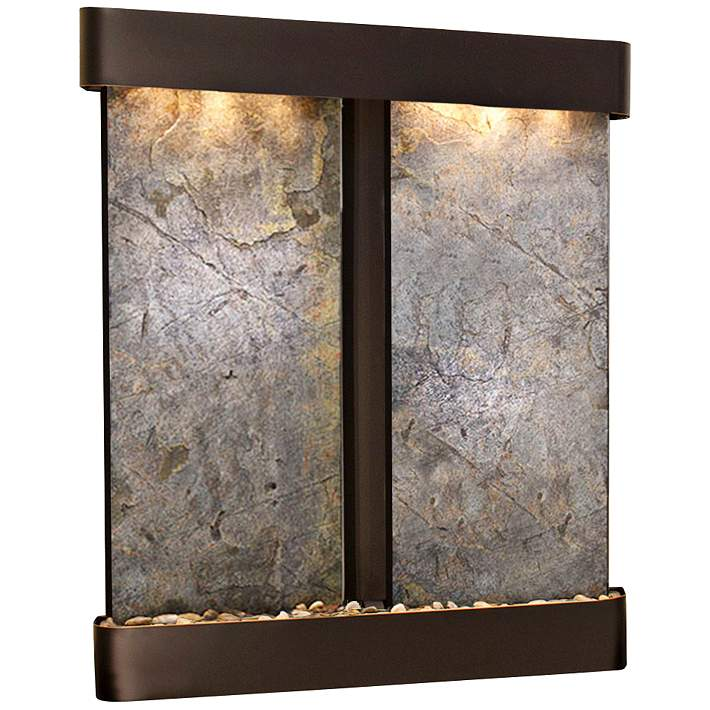 Cottonwood Falls 69 High Two Panel Modern Wall Fountain 6v549 Lamps Plus