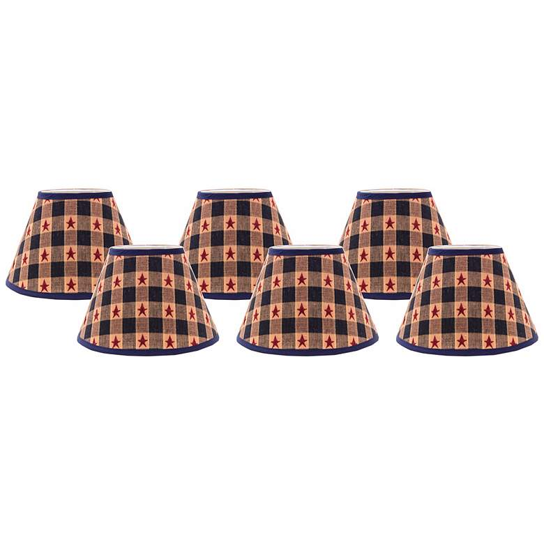 Star Spangled 4x6x5.25 Empire Shade Set of 6 (Clip-On)