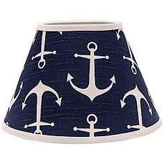 Coastal lamp shades lamps plus navy anchors aweigh 10x18x13 empire shade spider aloadofball Gallery