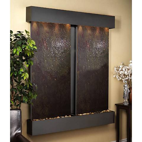 "Cottonwood Falls Featherstone Blackened 69""H Wall Fountain"