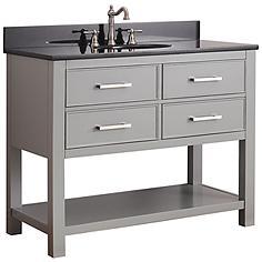 """Avanity Brooks 42"""" Black Top Gray Single Sink Vanity"""
