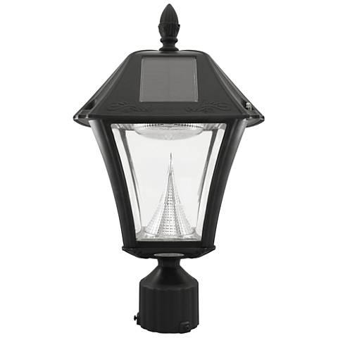 """Baytown II Solar LED 18"""" High Black Post Light"""