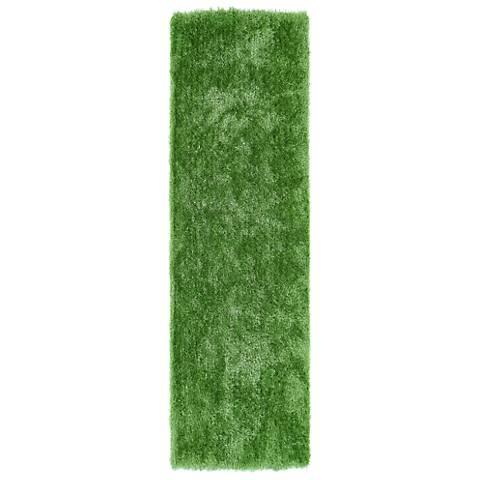 Kaleen Posh PSH01-96 Lime Green Shag Area Rug