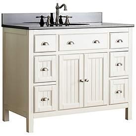 Single Sink Bathroom Vanities 42 47 In Cabinets And Storage Lamps Plus