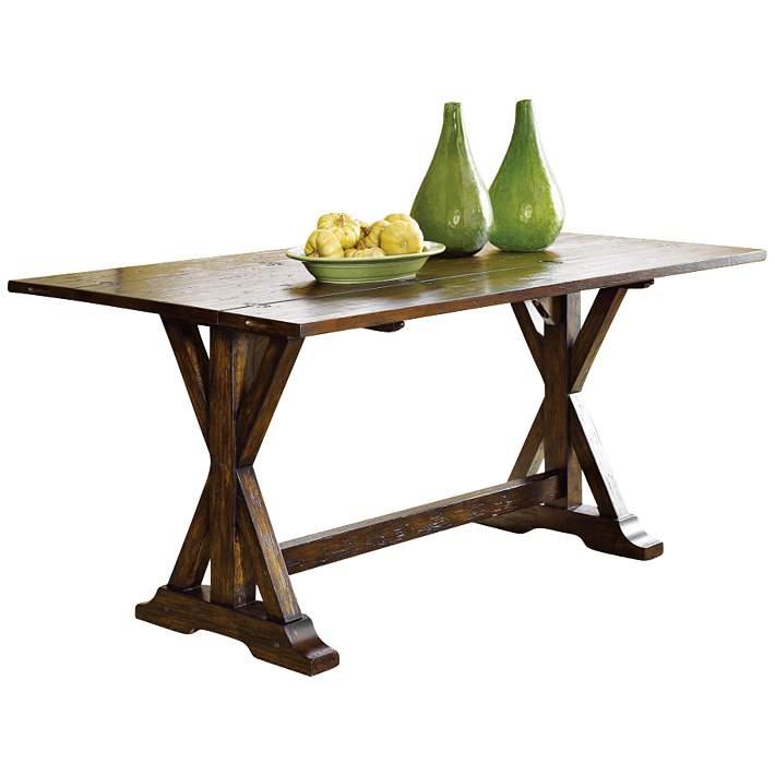 Hidden Treasures 64 Rustic Pine Wood Flip Top Console Table 6w394 Lamps Plus