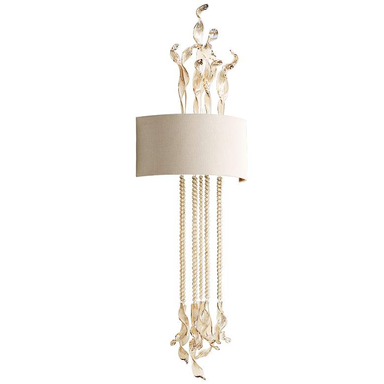 """Islet 44 3/4"""" High Cognac Glass and Creme Wall Sconce"""