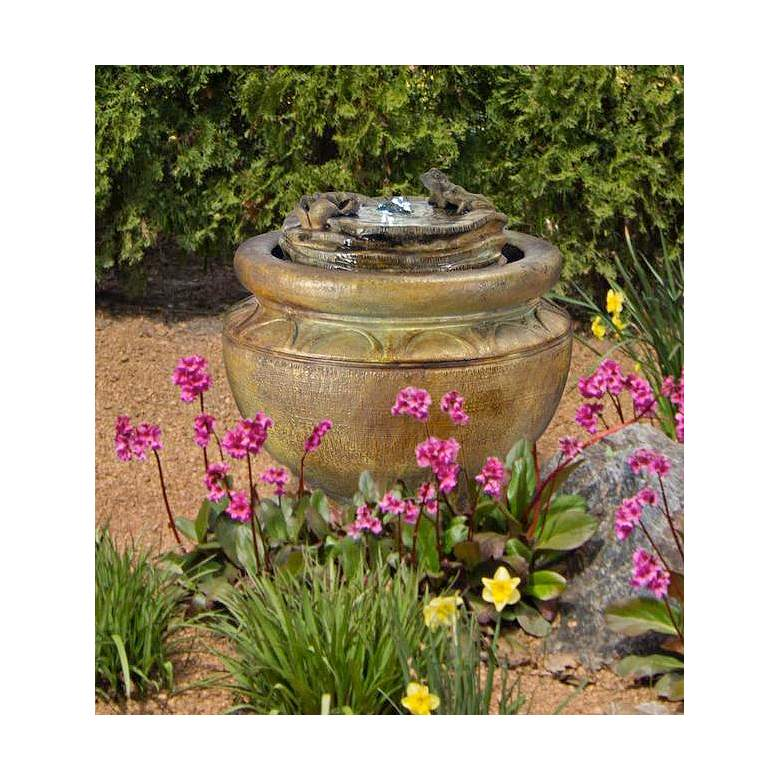 "Henri Studio 18""H Relic Nebbia Frogs Patio Bubbler"