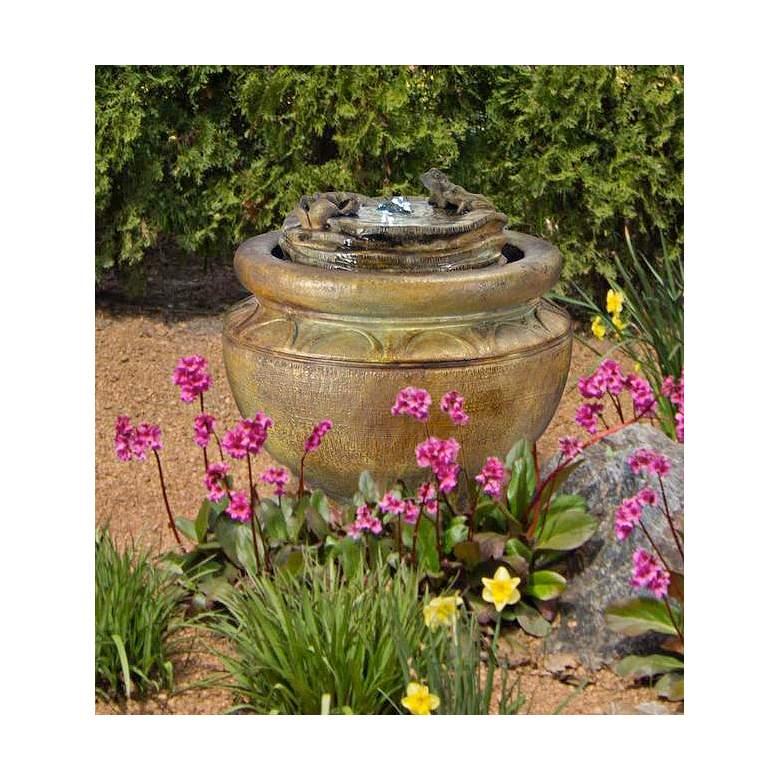 """Henri Studio 18""""H Relic Nebbia Frogs Patio Bubbler Fountain"""
