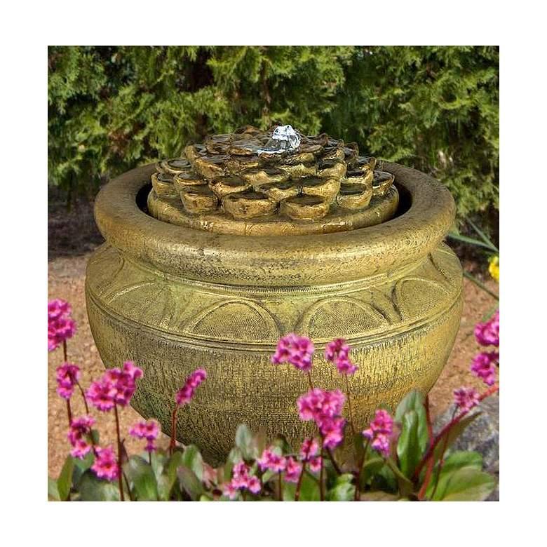 "Dahlia 17"" High Patio Bubbler Fountain by Henri Studio"