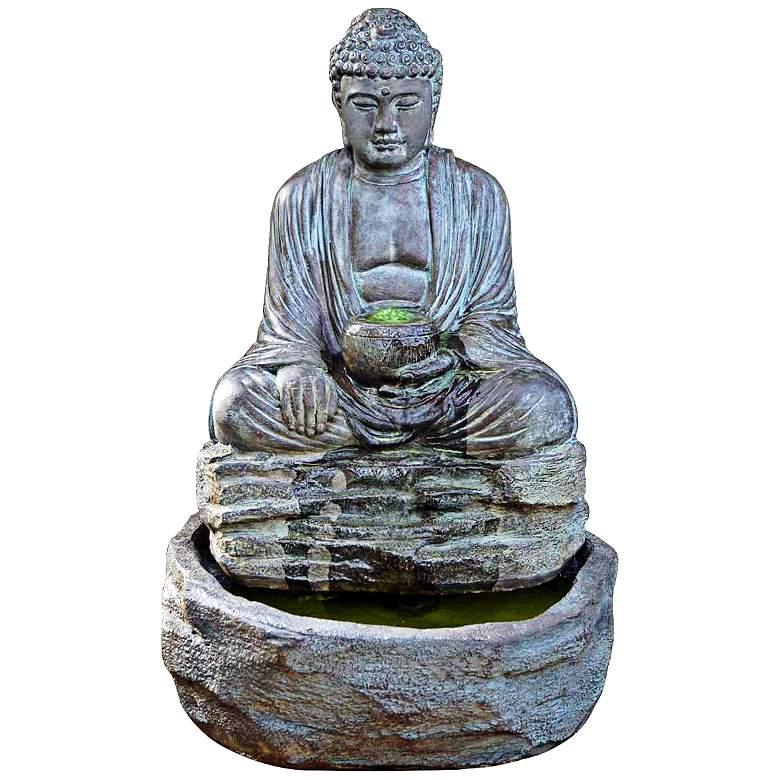 "Henri Studio Relic Azura Buddha Cast Stone 28"" High Fountain"