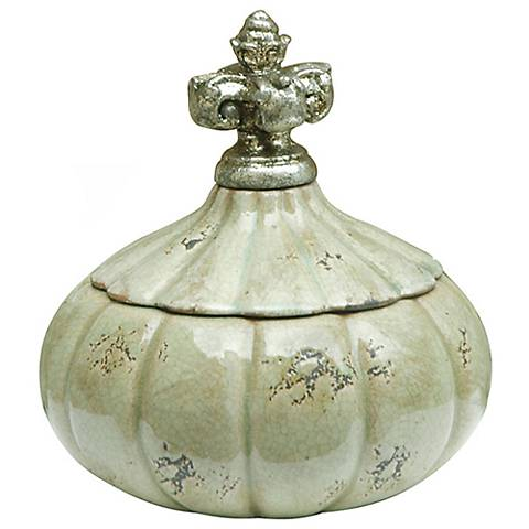 "Crestview Antigua Small White 8 1/4"" High Ceramic Jar"
