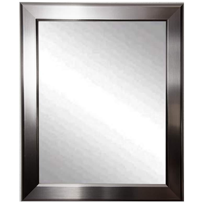 "Ezel Silver Round Edge 28"" x 34"" Wall Mirror"