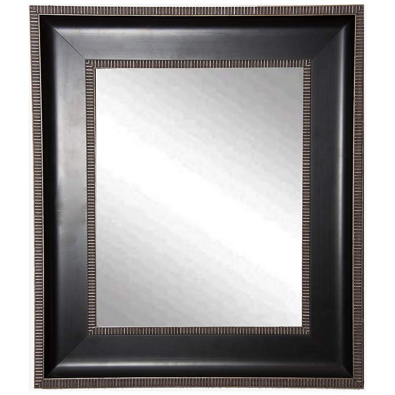 "Willards Black and Silver 29 1/4"" x 35 1/4"" Wall Mirror"