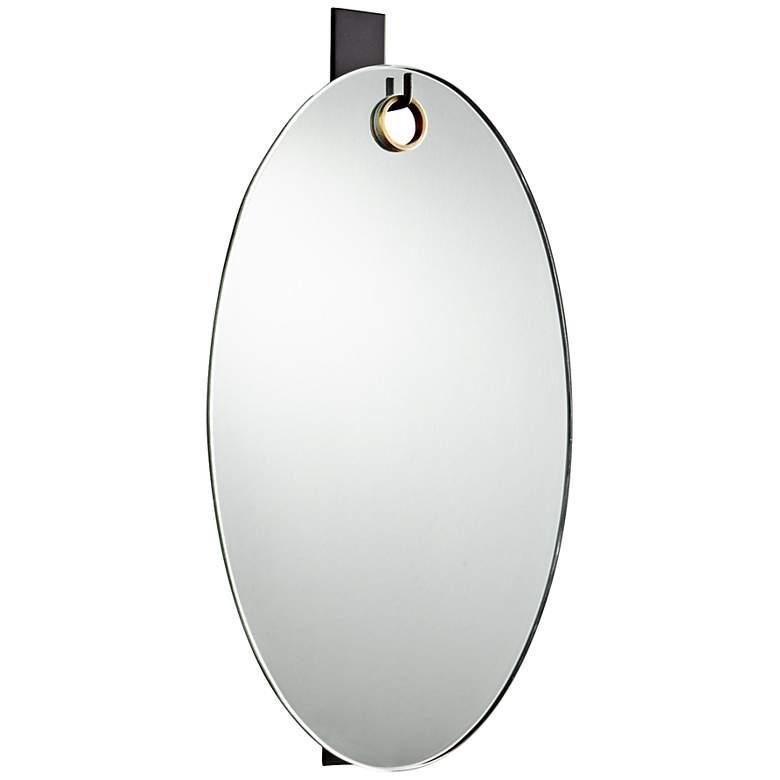 "Eternity 12 3/4"" x 23"" Oval Frameless Wall Mirror"