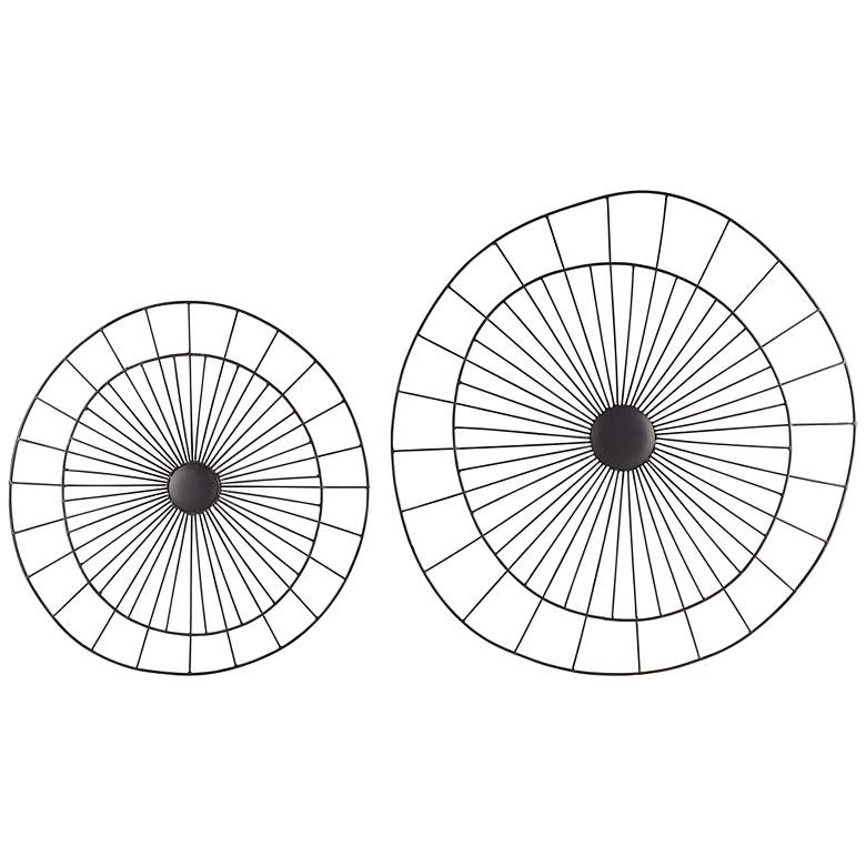 Pin Wheels Set of 2 Metal Wall Art Medallions