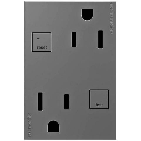 adorne® Magnesium 15A Tamper-Resist 3-Module GFCI Outlet