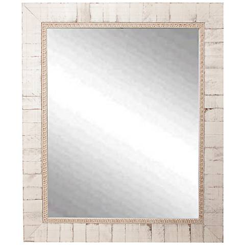 "Idabel Tuscan Ivory 25 1/2"" x 31 1/2"" Wall Mirror"