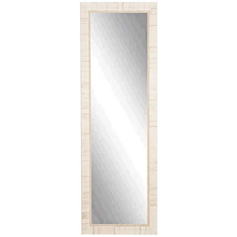 "Idabel Tuscan Ivory 25"" x 63"" Full Length Floor Mirror"