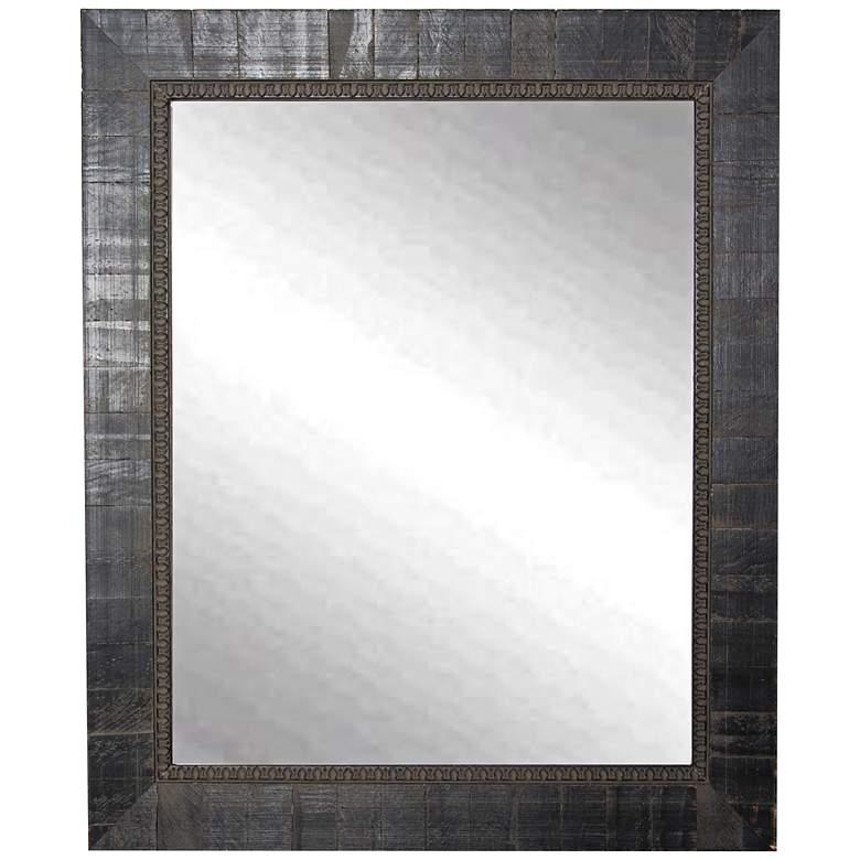 """Idabel Tuscan Ebony Aged Black 25 1/2"""" x 31 1/2"""" Wall Mirror"""