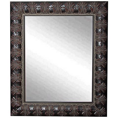 """Grantly Mahogany Accent 30 1/2"""" x 36 1/2"""" Wall Mirror"""