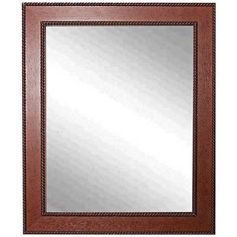 """Minden Western Rope 25"""" x 31"""" Wall Mirror"""