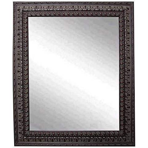 "Redding Dark Mahogany 26 1/2"" x 32 1/2"" Wall Mirror"