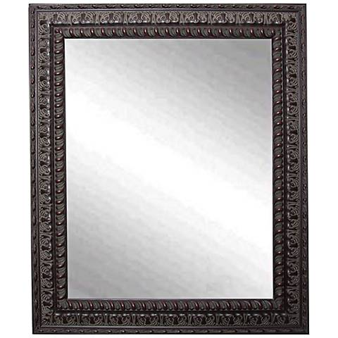 "Redding Dark Mahogany 29 1/2"" x 35 1/2"" Wall Mirror"