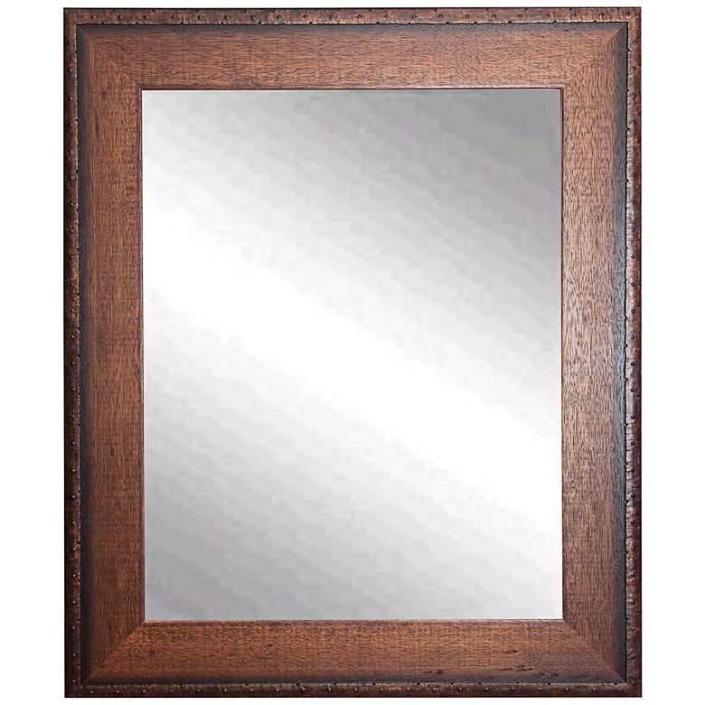 """Timber Estate Walnut 26 1/2"""" x 32 1/2"""" Wall Mirror"""