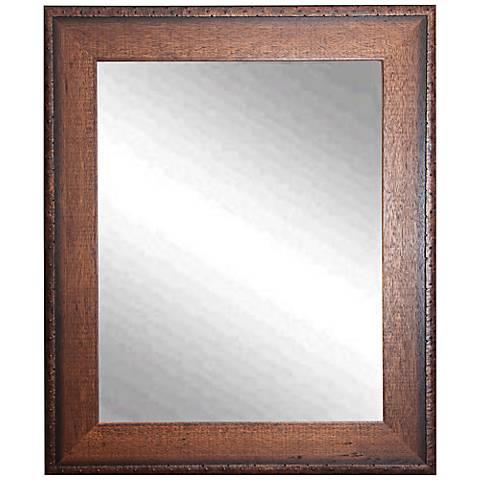 """Timber Estate Walnut 29 1/2"""" x 35 1/2"""" Wall Mirror"""