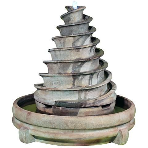 "Henri Studio 37"" High Relic Fumato Piroetta Fountain"