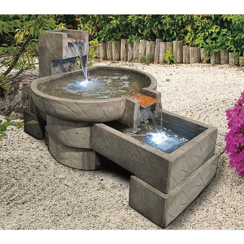 """Henri Studio 31 1/2"""" High Relic Nebbia Neostone Fountain"""