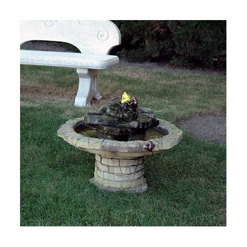 "Henri Studio 21"" High Sargasso Climbing Frog Hybrid Fountain"