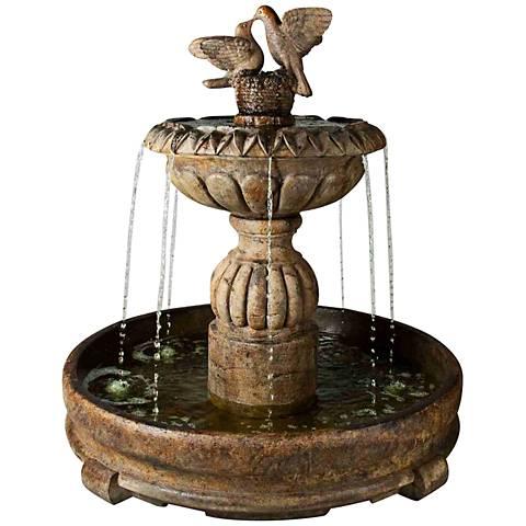 """Henri Studio 58""""H Relic Lava Paloma Cascada in Pool Fountain"""