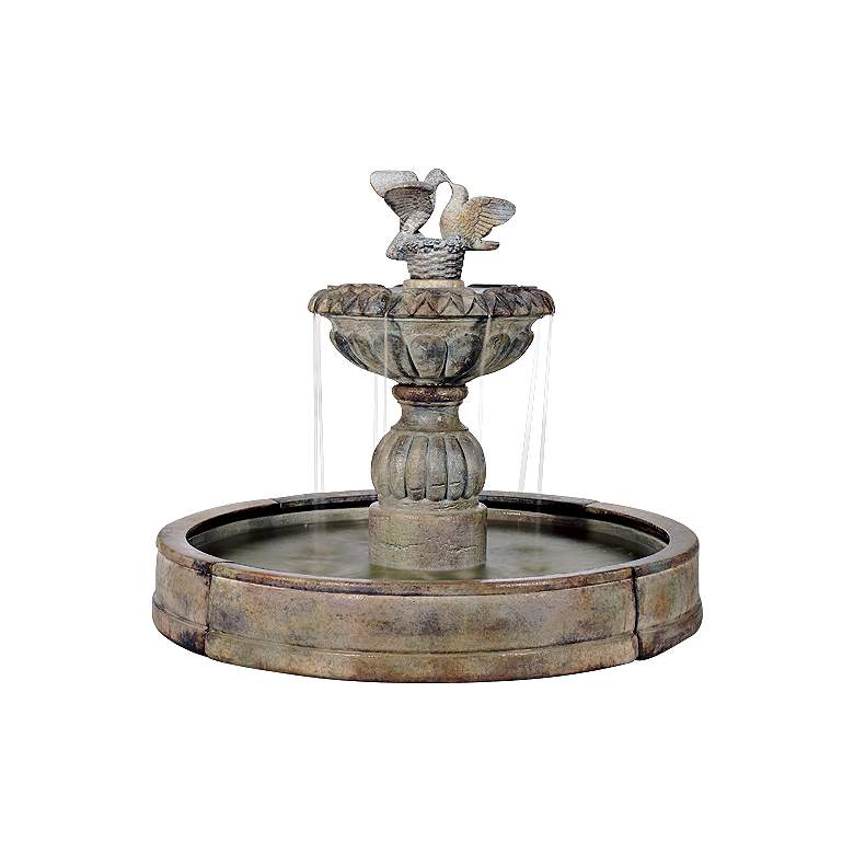 "Fumato Paloma Cascada 56"" Large Courtyard Garden Fountain"