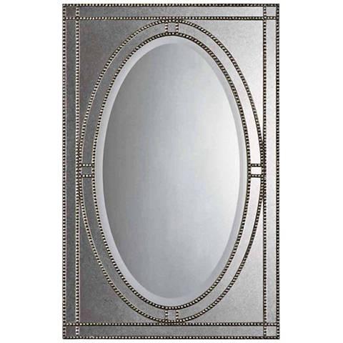 """Uttermost Earnestine Silver 28 1/2"""" x 43 1/2"""" Mirror"""