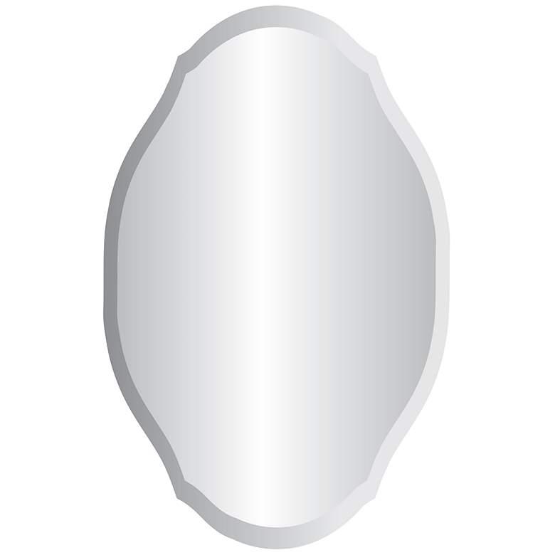 "Erath 24"" x 36"" Oval Frameless Wall Mirror"