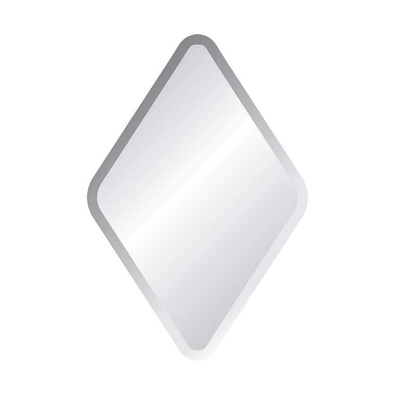 "Estero 27"" x 34"" Diamond Frameless Wall Mirror"