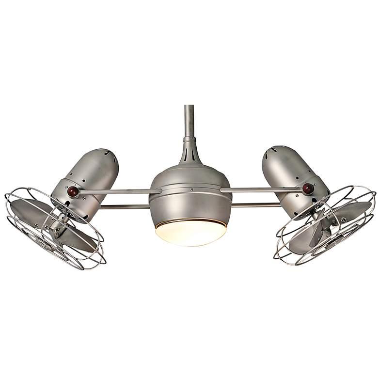 "39"" Matthews Dagny Brushed Nickel Lighted Dual Ceiling Fan"