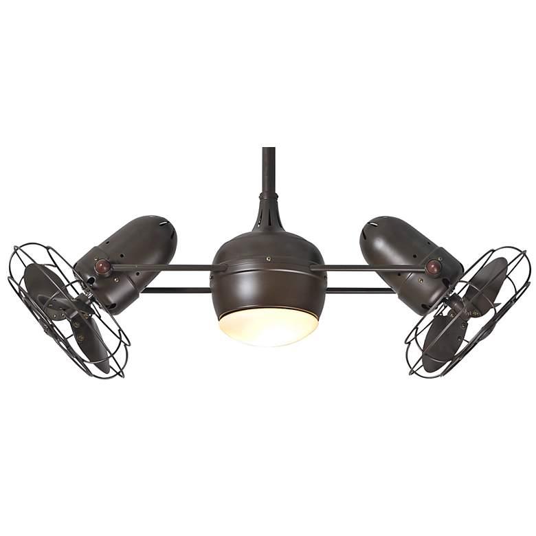"""39"""" Matthews Dagny Textured Bronze Lighted Dual Ceiling Fan"""